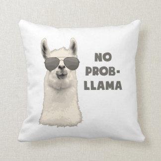 No Problem Llama Throw Pillows