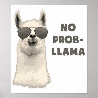 No Problem Llama Poster