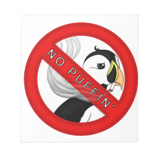 No Puffin Notepad