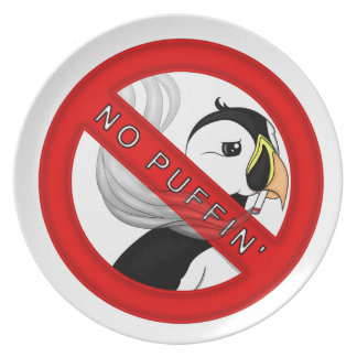 No Puffin Plate