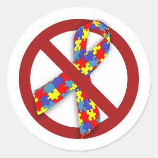 No Puzzle Ribbon sticker