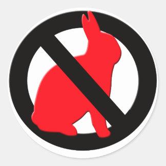 No Rabbits Allowed Classic Round Sticker