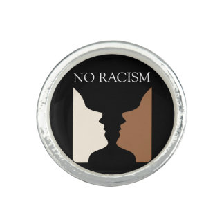 No racism with rubins vase photo ring