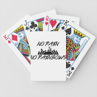 No Rain Bicycle Playing Cards