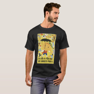 NO RAIN IN PORTUGAL  BUT TOURISTS vintage picture. T-Shirt