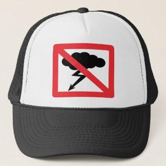 no rain - no thunderstorm trucker hat