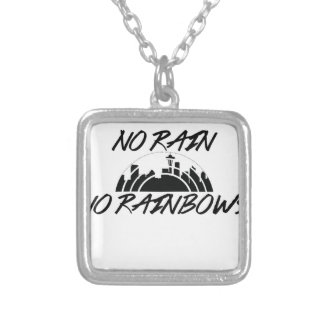 No Rain Silver Plated Necklace