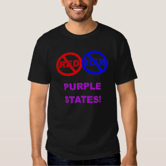 NO RED NO BLUE PURPLE STATES TSHIRT