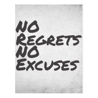 No Regrets Postcard