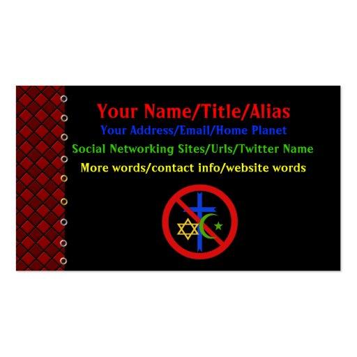 No Religion Business Card Template