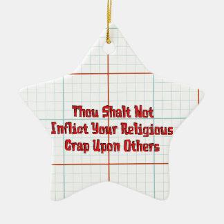 No Religious Crap Christmas Tree Ornament