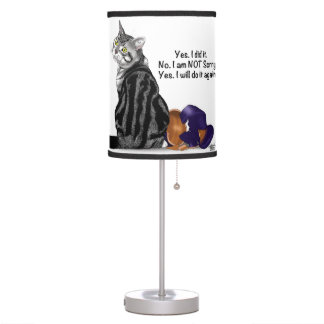 No Remorse Cat Table Lamp