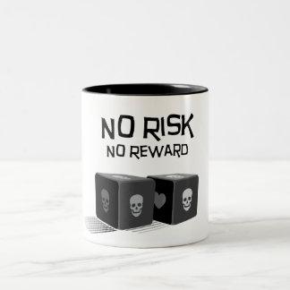 No Risk, No Reward Two-Tone Coffee Mug
