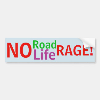 No Road Rage - No Life Rage! sticker
