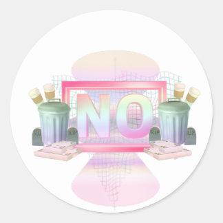 No Round Sticker