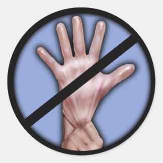 No rubber gloves! Sticker