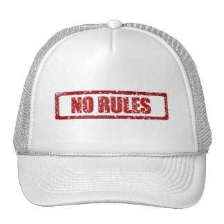 NO RULES GANGSTER GANGS WARNING REBELLION MOTTO AT TRUCKER HAT
