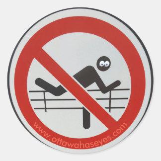 No Running! Classic Round Sticker