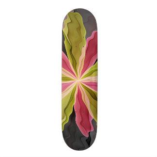 No Sadness, Joy, Fantasy Flower Fractal Art Skate Board Deck