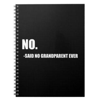 No Said No Grandparent Ever Spiral Notebooks