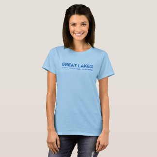 No Salt, No Sharks, No Worries - Great Lakes T-Shirt
