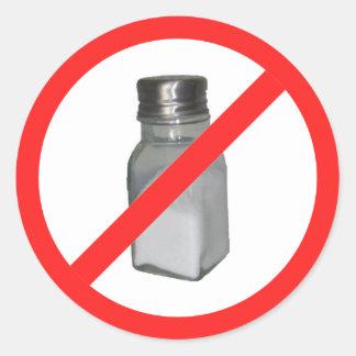 No salt round sticker