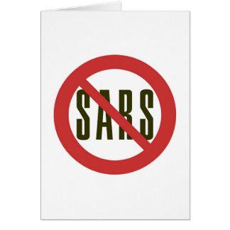 No Sars Greeting Card