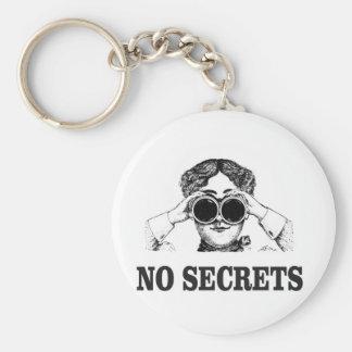 no secrets yeah basic round button keychain