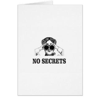 no secrets yeah card