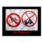 No Segway! Postcard