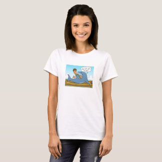 No Shaaark finning white T-shirt
