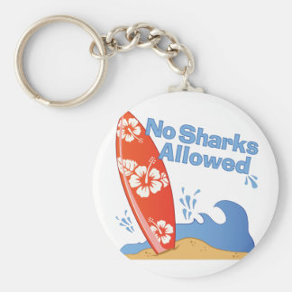 No Sharks Allowed Keychain