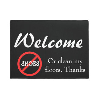 No shoe house welcome mat