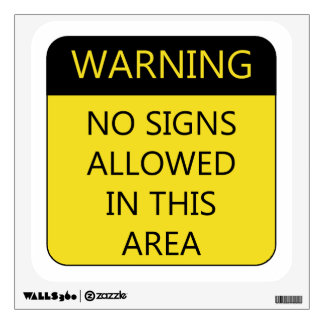 No Signs Sign Wall Sticker