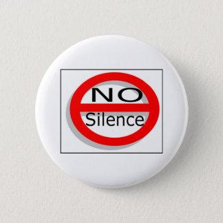 No Silence 2 Inch Round Button