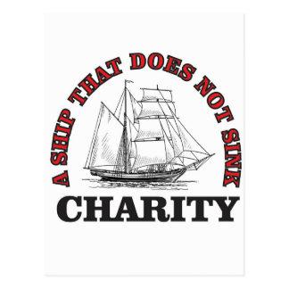 no sink charity postcard