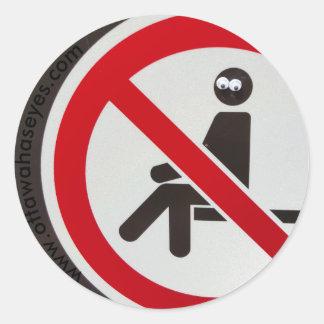 No Sitting Allowed Classic Round Sticker