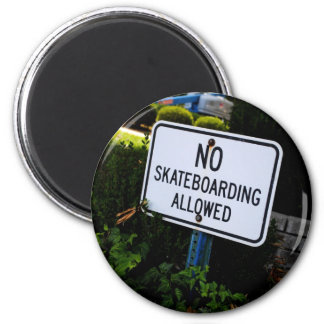 No Skate Boarding Sign Magnet