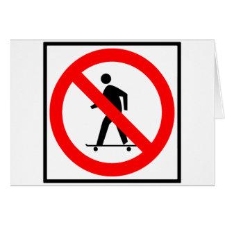 No Skateboarding Highway Sign Card