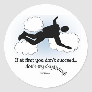 No Skydiving Classic Round Sticker