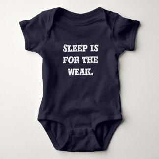 """No Sleep"" Funny Baby Blue Bodysuit"