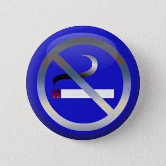 No Smoking 2 Inch Round Button