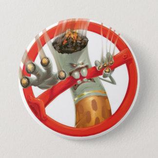 no smoking 3 inch round button