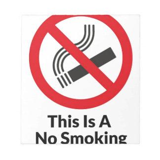 No Smoking Area Notepad