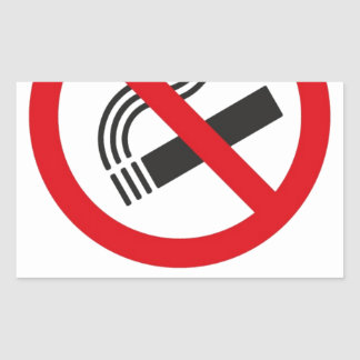 No Smoking Area Sticker