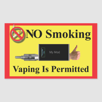 NO Smoking but Vaping Permitted Sticker