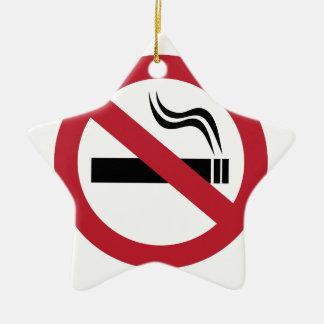 No Smoking Ceramic Ornament