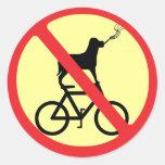 No Smoking Dogs on Bikes Stickers