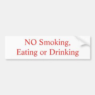 NO Smoking, Eating or Drinking sticker