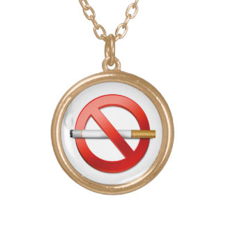No Smoking Gold Plated Necklace